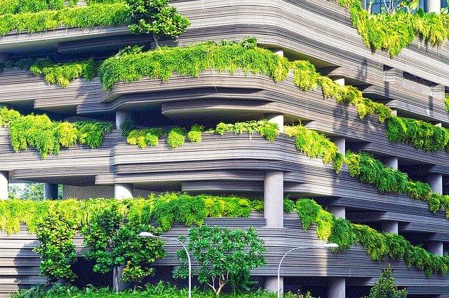 garáže s rostlinami