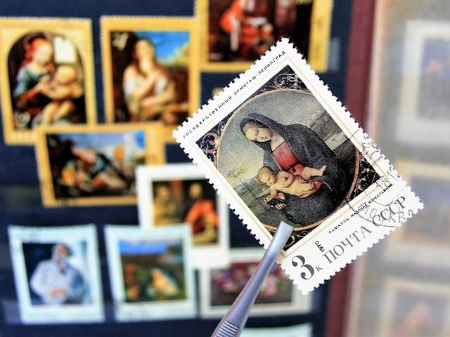 madonna na známkách