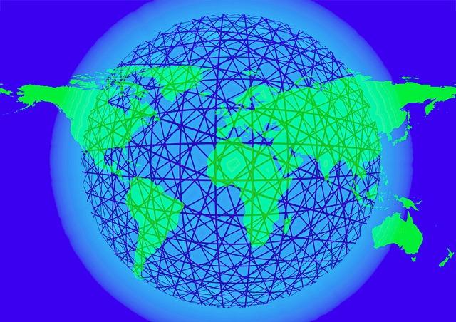 Znázornění internetové sítě